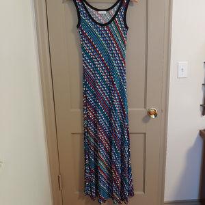 Calvin Klein Maxi Jersey Stretch Dress
